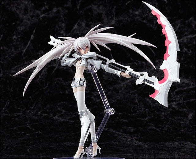 NEW 19cm White Rockshooter Black Rock Shooter the Game Figma PVC Action Figure Model Anime Brinquedos Toys Free Shipping 2