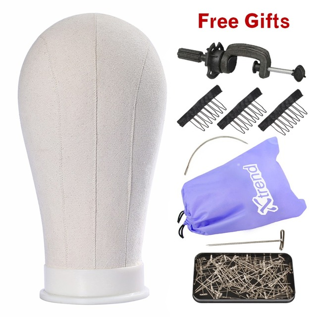 Xtrend Wig Head Canvas Block Holder Mannequin Manikin Stand Professional Styling Making Tools Heads Manequin For Wigs Display