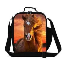 Дети лучшая лошадь кулер сумки дизайнер мужской обед кулер сумки для работы мальчики прохладный сумки для пищевой дети обед контейнер