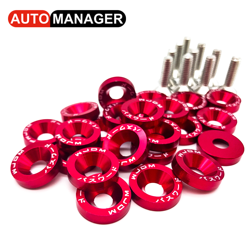 Aluminum Washers With M6 Bolt for Ktm Kawasaki MT 07 Fairing Fender License Plate Universal Motorcycle JDM Style Washer 10pcs m6x20 car styling universal modification jdm sticker stickers password fender washer license plate bolts auto accessories