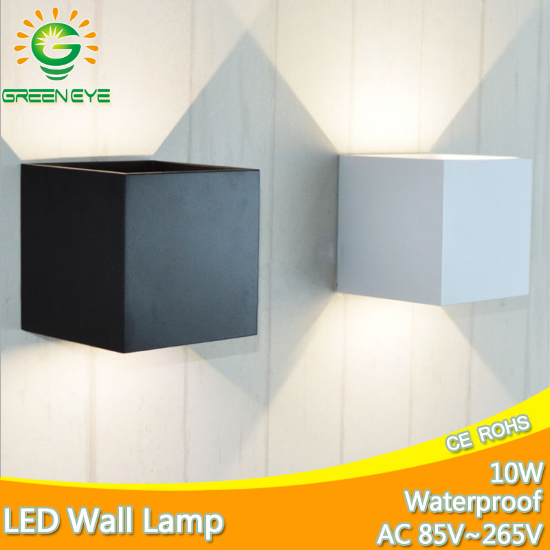 Modern Led Wall Lamp 10W AC90-260V Aluminum shell Outdoor Waterproof IP65 Indoor Wall Lamps Living Room Porch Garden Lamp 18w led outdoor waterproof wall light ip65 modern nordic style indoor wall lamps living room porch garden lamp ac90 260v lp 42