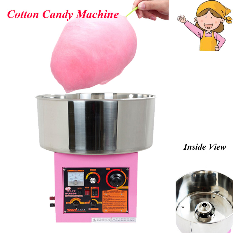 Electric /Gas Cotton Candy Machine Commercial Cotton Floss Maker with Music WY-771