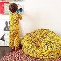 2016 INS Crianças dos miúdos Super Confortável Sofá Preguiçoso BeanBag Cadeira Do Sofá Do Saco de Feijão de Enchimento de Banana Brinquedos Fotografia Quarto De Cama Decoração