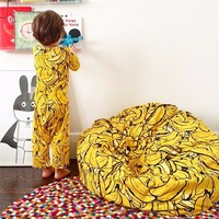 2016 INS Kids Children Super Comfortable Sofa Lazy Banana Bean Bag Filling Sofa Chair BeanBag Photography