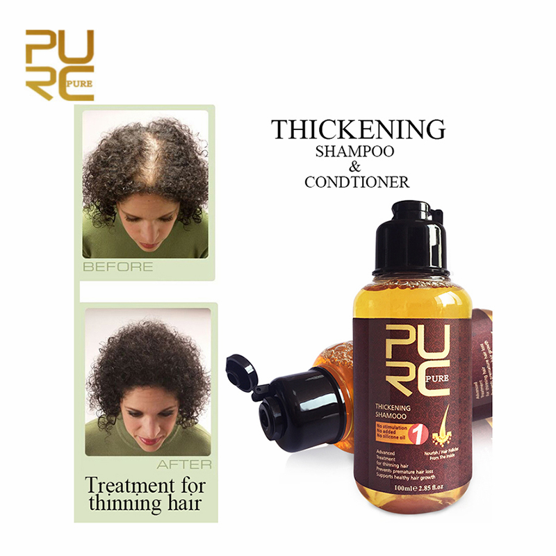 PURC Ginger Hair Shampoo Professional Hair Scalp Treatment Healthy Hair Growth Dense Thickening Anti Hair Loss Oil Control 100ml image
