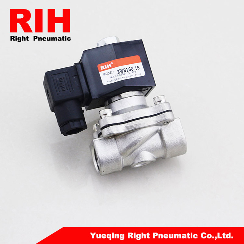 Right Pneumatics 2W Series 2/2 Way Stainless steel Solenoid Valve 2WB250-25 right pneumatics 2w series 2 2 way stainless steel solenoid valve 2wb250 25