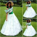 19 Century White Civil War Southern Belle Gown evening Dress/Victorian Lolita dresses/scarlett dress US6-26 V-272