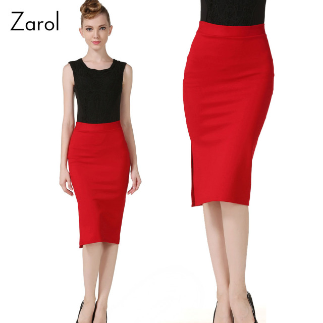 Aliexpress.com : Buy Office Lady High Waist Pencil Skirt Fashion ...