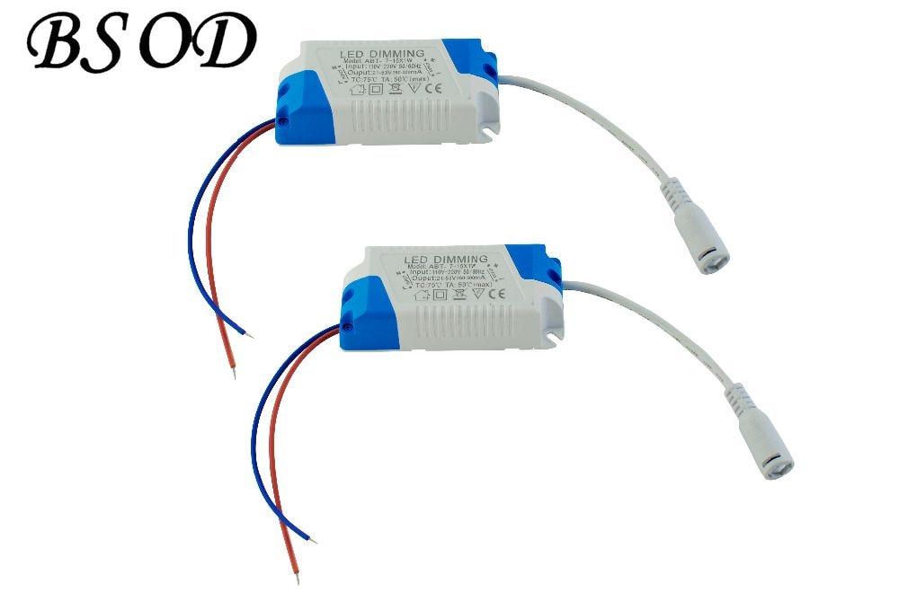 Ovladač BSOD Dimming LED Driver 7-15W Výkon 21-53V Konstantní proud DC300mA Napájecí zdroj vedený Transformátor usměrňovače stropní lampy