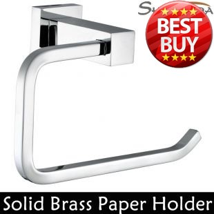 Free Shipping Toilet Paper Holder Roll Holder Tissue Holder Solid Brass Chrome Finished-Bathroom Accessories Products-94007 toilet paper holder roll holder tissue holder bathroom accessories products