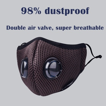 Activated Carbon Dustproof Mask, Anti Haze Face Mask Anti Pollen Allergy PM2.5 Dust Mask with Filter Cotton Sheet and Valves
