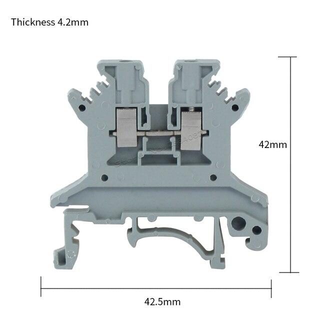 0.14 1.5mm2 0.2 2.5mm2 Universal class terminal block din rail ...