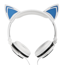 Foldable Flashing Glowing cat ear headphones Gaming Headset Earphone with LED light For PC Laptop Computer xiaomi Mobile Phone