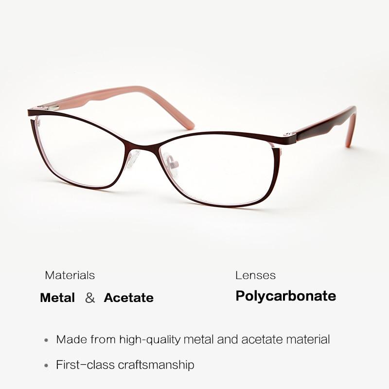 1c8059470 Melhor Óculos de Armação de Metal Mulheres Grife Feminina óculos de sol Do  Olho de Gato Do Vintage Óculos de grau Completo Rosa Armações Miopia Olho  Barato ...