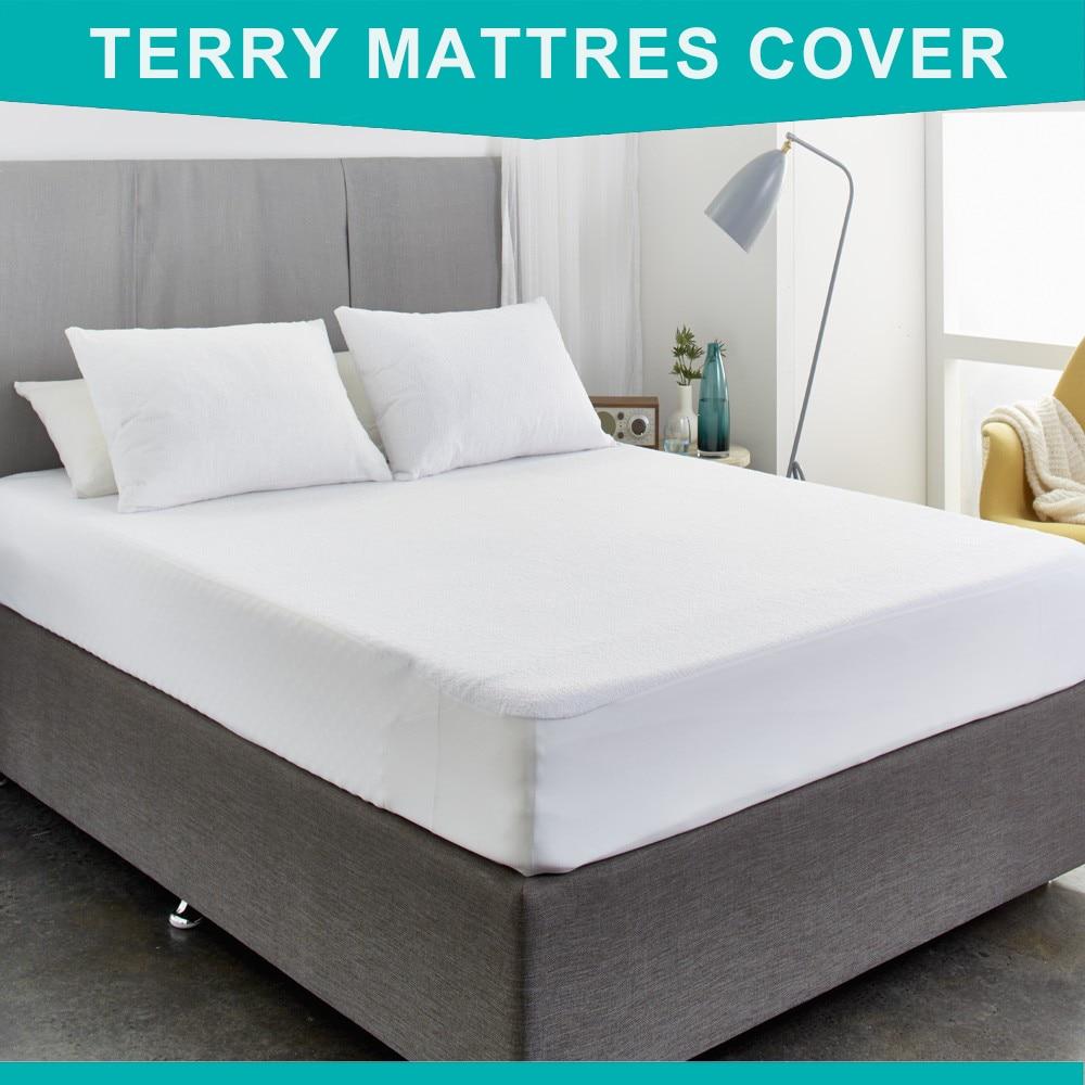 160X200 cm Baumwolle Terry Matratze Protector Hypoallergen Matratze Abdeckung Wasserdicht Atmungsaktiv Matratze Pad Für Bett Bug