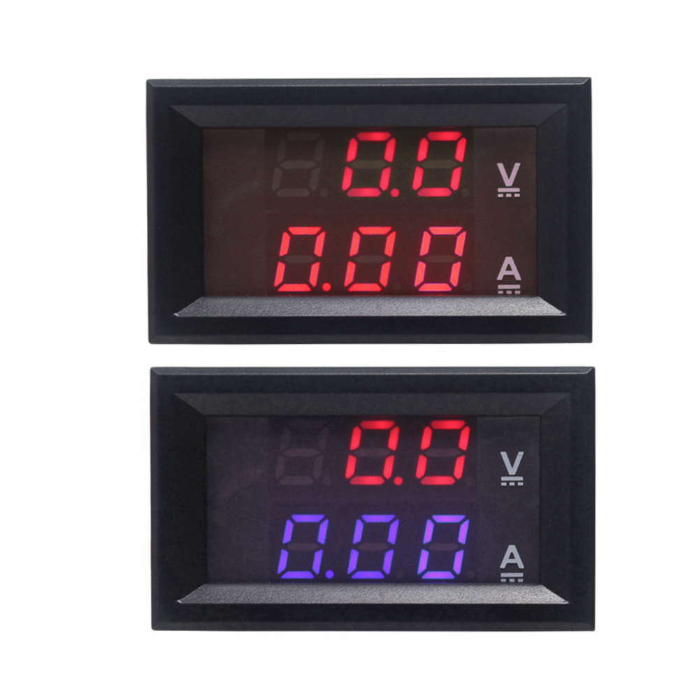 Red DC 0-100V/10A Digital Voltmeter Ammeter Amperemeter Car LED Tester Current Voltage Monitor
