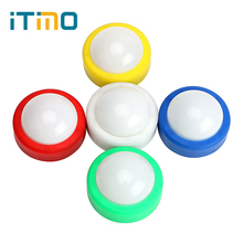 ITimo LED Night Light Push Tap Stick Activity Cabinet Closet Touch Lamp Party Decoration 5 Colors