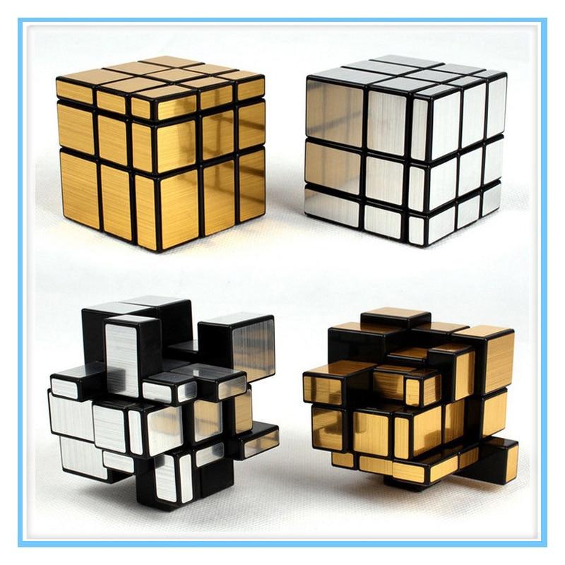3x3x3 cube Magic Spiegel Cube berufs Gold & Silber cubo magico Guss Beschichtet Puzzle Geschwindigkeit Twist lernen gan spielzeug für kinder
