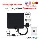 Indoor TV Antenna HDTV Digital TV Signal Reception 50 Miles Range Amplifier Indoor Flat TV Antenna For DVB-T DVB-T2 LNB receptor