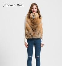 2016 Fox Real Fur Vest Women Winter Ladies Gilet  Fashion Waistcoat Coat Mandarin Collar S1708