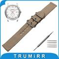 18mm 20mm 22mm 24mm Nylon Watch Band +Tool for Hamilton Zulu Fabric Strap Wrist Belt Bracelet Black Brown Blue Green Orange
