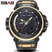 Sbao reloj hombres deporte digital de moda Militar relojes reloj cronómetro Calendarios reloj impermeable Relogio Masculino