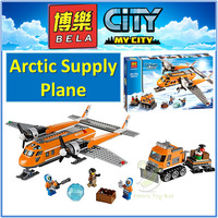 LEHO 10441 Compatible City Brick Arctic Supply Plane 60064 Building Blocks Policeman Educational Toys For Children Boy