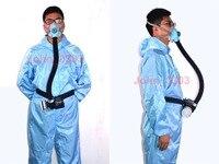 Elétrica Constante Fluxo de Ar Fornecido Alimentados Sistema de Meia Face Máscara de Gás Respirador