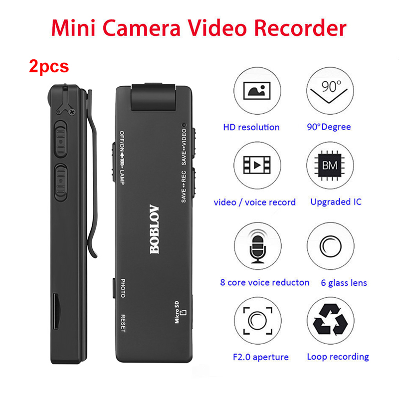 Wholesale 2PCS Boblov A3 Mini Digital Camera HD Magnetic Body Camera Motion Detection Snapshot Loop Recording Camcorder in Surveillance Cameras from Security Protection