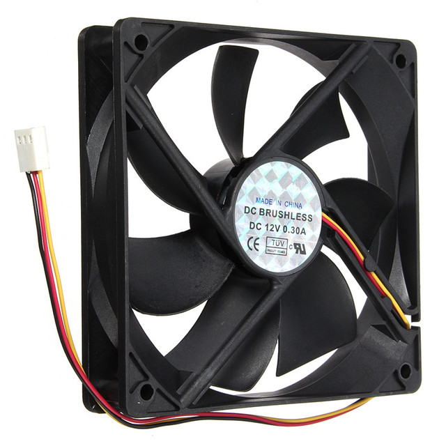 Ventilator Lautlos 12v 3pin Cpu Cooler Small Cooling Fan 120mmx120mmx25mm