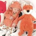 2016 новая коллекция весна девочки детская одежда с капюшоном лиса пальто девушка куртка новорожденный младенец мальчики clothesToddler девушка верхняя одежда куртка для мальчика ветровка для мальчика куртка детская