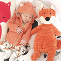 2016 New Spring Baby Girls Clothes Baby Hooded fox Coat Girl Jacket newborn baby infant boys clothesToddler Girl Outerwear