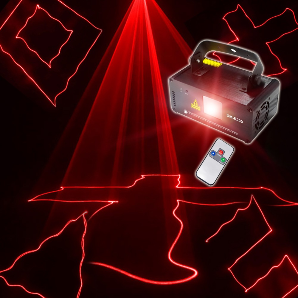 Chims DMX 512 Control 200mw Red Laser Stage Lighting Flash Scanner Show Light Effect Projector Party Dance Music Disco DM-R200 dance legend red show 05 цвет 05