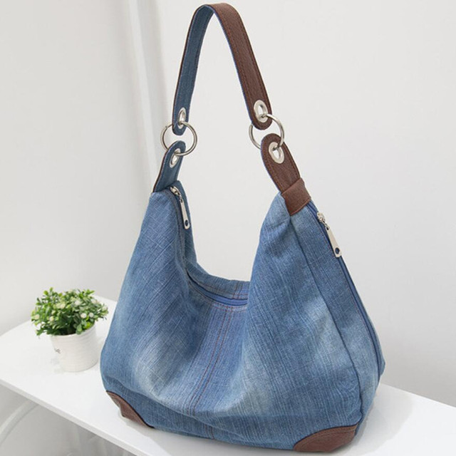 2018New Fashion Large Luxury Handbags Women Bag Designer Ladies Hand bags  Big Purses jeans bagTote Denim 968d63bbb176e