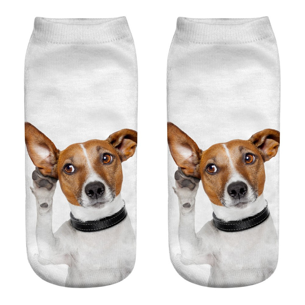 2019 NEW FASHION Cute Casual Business Socks 3D Dog Printing Medium Sports Socks Free Ship T4