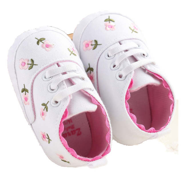 b257797e40395 placeholder Babies Shoes For Baby Girl Spring White Pink Flowers Baby Shoes  Female Baby Toddler Shoes A14LLR