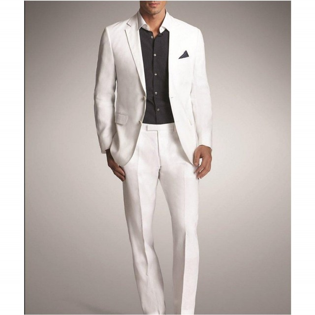 Caballero del Envío libre Nuevo Estilo Traje Muesca Solapa de La Boda del Novio Esmoquin Trajes de Novio Traje Por Encargo (Jacket + Pants) de La Venta caliente