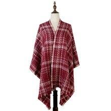 womens plaid scarf winter shawl cashmere acrylic thick luxury brand jacquard scarfs mujer pashmina fashion stole