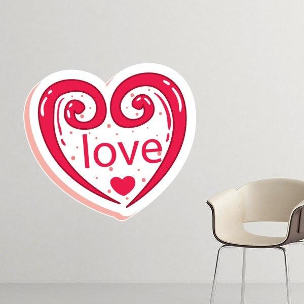ᗔDía de San Valentín Rosa amor en forma de corazón ilustración ...