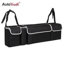 Багажник автомобиля, организатор сиденье сумка для хранения Высокое Ёмкость Multi-использовать ткань Оксфорд заднем сиденье автомобиля организаторы Салонные аксессуары