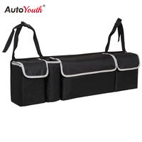 AUTOYOUTH 2 In 1 Car Seat Back Bag High Capacity Car Seat Organizr And Trunk Storage