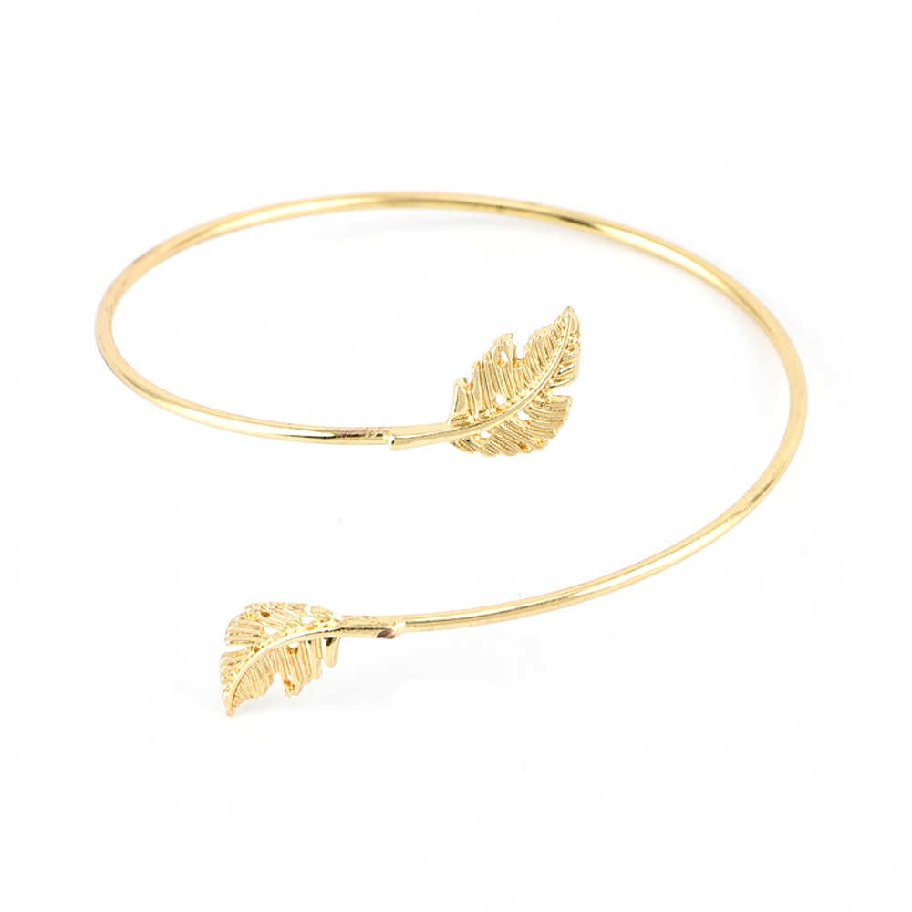 4 Pcs/set Women Statement Vintage Crystal Beads Bracelets LOVE Letters Geometric Leaf Open Bangle Fashion Jewelry Drop Shipping