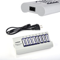 LEISE 867 Fast Independent Charger Set Multi Slot Independent Charger 4 X AA Battery 4 X
