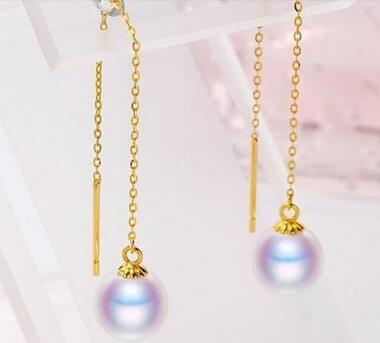 Free shipping charming pair of 11-12mm round white south sea pearl earring 14 gold цена и фото