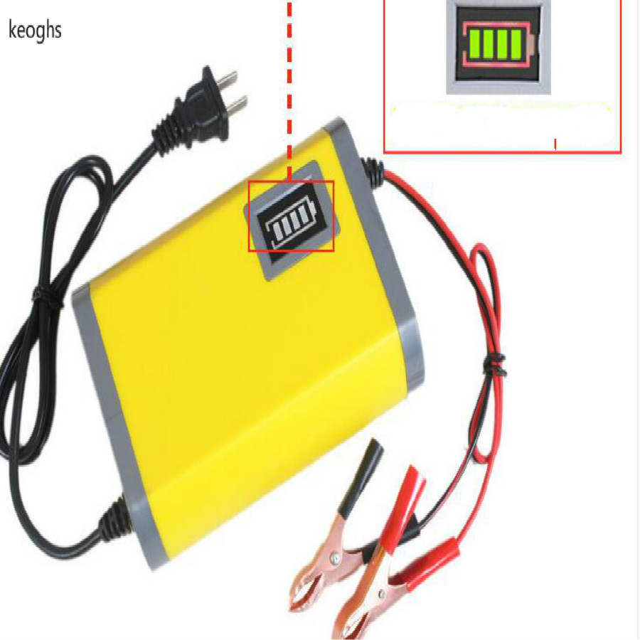 charging motorcycle battery charger for motorcycle battery scooter motorbike intelligent 12V 2A fit for 6-36ah