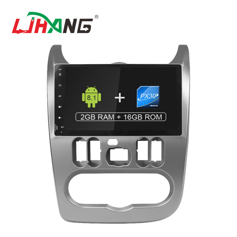 LJHANG 1 DIN Voiture lecteur dvd Android 8.1 Pour Renault Logan Sandero Duster GPS Voiture Multimédia RDS Radio WIFI Bluetooth Headunit FM
