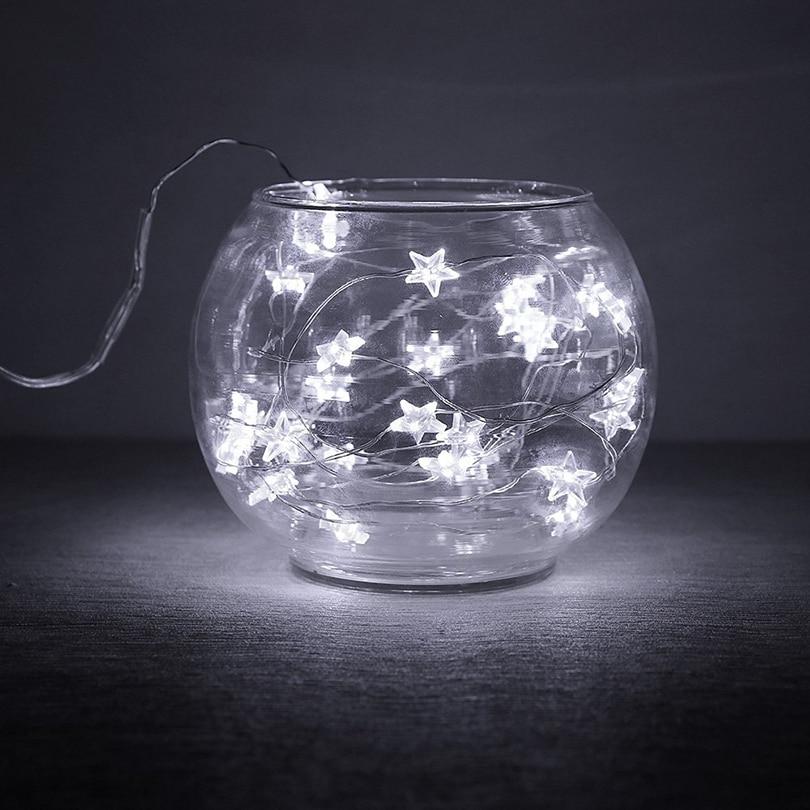 2 M 20 leds 3 M 30 leds Kerstvakantie Fairy Light LED Koperdraad Ster - Vakantie verlichting - Foto 5