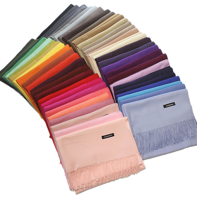 Spring Autumn cashmere tassel thin long scarves