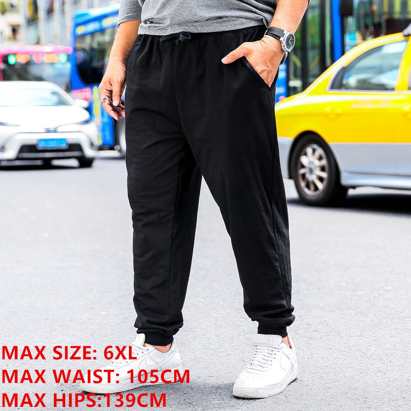 SweatPants Men Loose Elastic Plus Size 6XL Elastic Streetwear Full Length Male Sports Trousers Casual Straight Joggers Pants