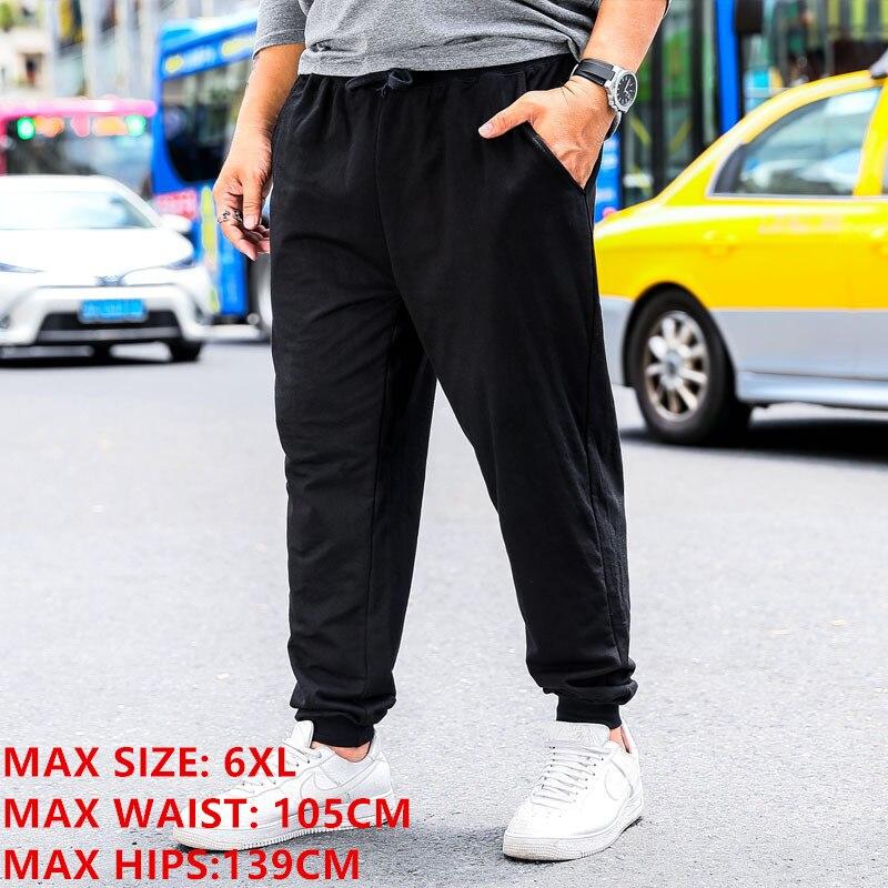 SweatPants Men Loose Elastic Plus Size 6XL Elastic Streetwear Full Length Male Sports Trousers Casual Straight Joggers Pants